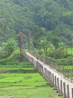Pont sur la rivière Rouge Vietnam