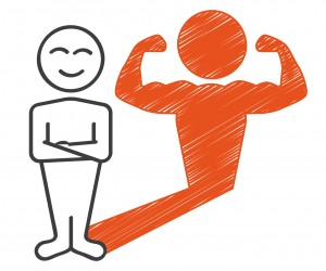 Strichmnnchen mit Muskeln